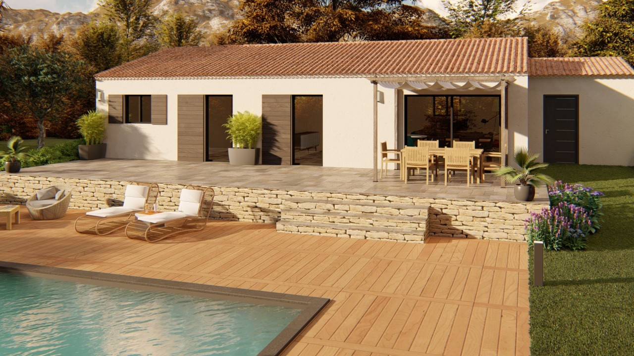 188 000€ Terrain avec maison neuve Monteux (84170)