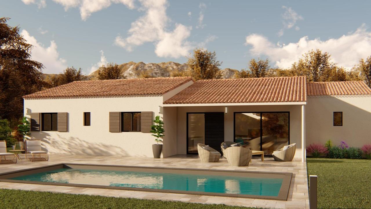 218 500€ Terrain avec maison neuve Rochefort-du-Gard (30650)